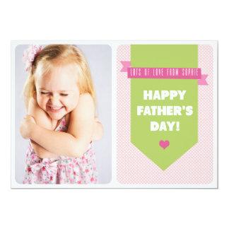 Tarjeta plana rosada linda del día de padre de los invitación 12,7 x 17,8 cm