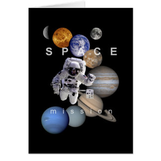Tarjeta planetas de la Sistema Solar de la misión espacial