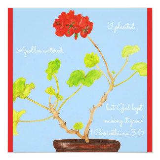 Tarjeta Planté… a dios guardado el hacer de él crezco