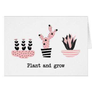 Tarjeta Plante y crezca