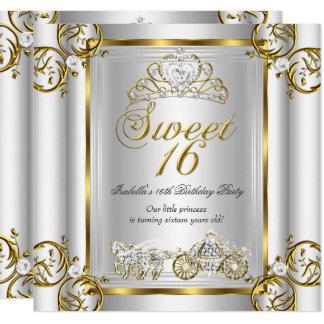 Tarjeta Plata 3 del oro del cumpleaños del dulce 16 del