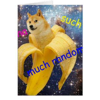 Tarjeta plátano   - dux - shibe - espacio - guau dux