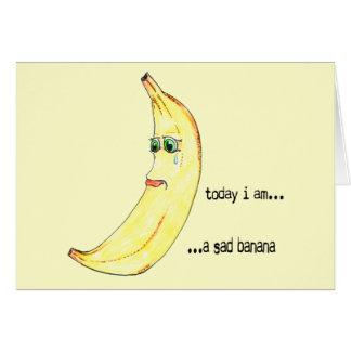 Tarjeta Plátano triste