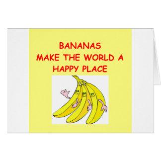 Tarjeta plátanos
