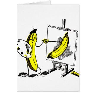 Tarjeta Plátanos del kitsch del vintage el artista del