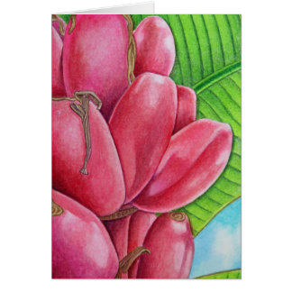Tarjeta Plátanos rosados