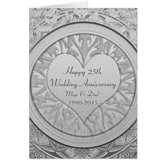 Tarjeta Platee el 25to aniversario de boda
