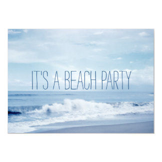 Tarjeta Playa azul retra bonita del océano de la Florida