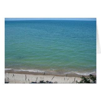 Tarjeta Playa clara al cielo