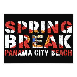 Tarjeta Playa de ciudad de Panamá de las vacaciones de