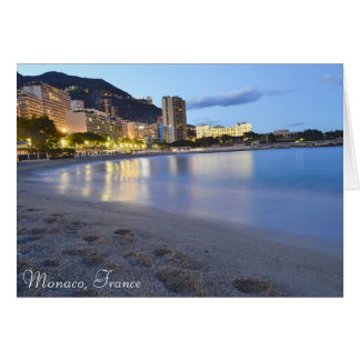 Tarjeta Playa de Mónaco en la noche