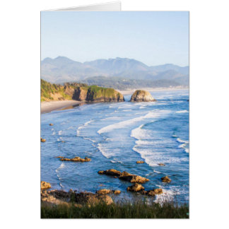 Tarjeta Playa Oregon del cañón