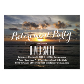 Tarjeta Playa tropical de la puesta del sol del fiesta de