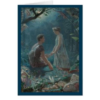 Tarjeta Pleno verano Hermia y Lysander ideales