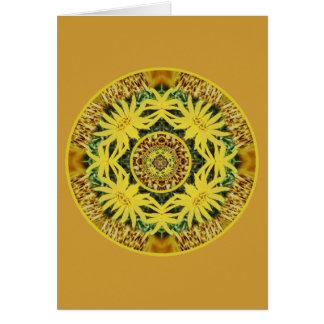 Tarjeta Plexo solar Chakra de la dicha de la margarita