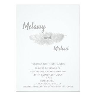 Tarjeta Pluma minimalista moderna elegante de moda