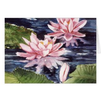 Tarjeta PMACarlson Waterlilies