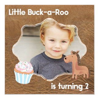 Tarjeta Poca segunda imagen del cumpleaños del Buckaroo