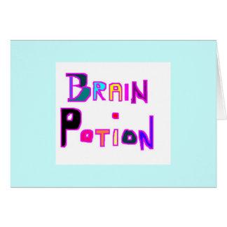 Tarjeta Poción del cerebro