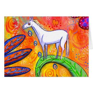 Tarjeta Poco caballo de la magia blanca