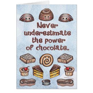 Tarjeta Poder Notecard del chocolate