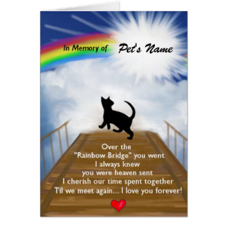 Tarjeta Poema conmemorativo del puente del arco iris para
