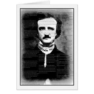 "Tarjeta Poema de Halloween… Edgar Allen Poe, ""el cuervo """