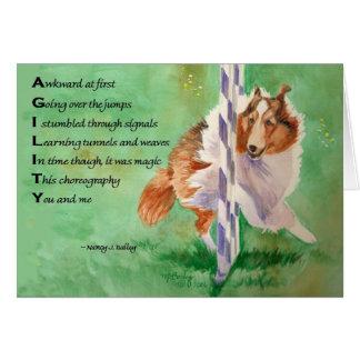 Tarjeta Poema de la agilidad de Sheltie