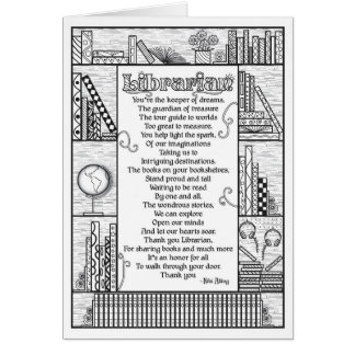 Tarjeta Poema del bibliotecario (plausible)