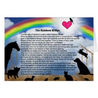 Tarjeta Poema del puente del arco iris