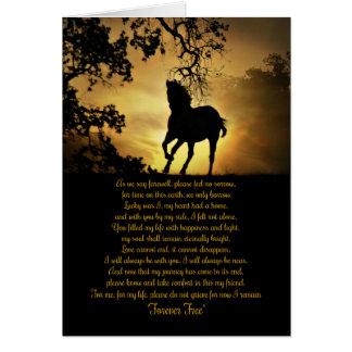 Tarjeta Poema original conmemorativo del caballo