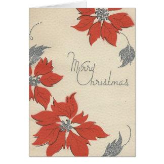 """Tarjeta Poinsettia hermoso """"de las Felices Navidad"""" del"""
