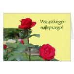 Tarjeta polaca de los rosas rojos del lat de Sto d