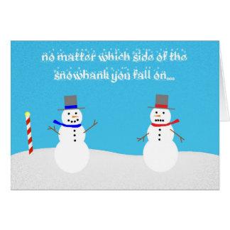 Tarjeta política del muñeco de nieve