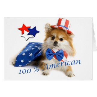 Tarjeta Pomeranian americano del 100 por ciento