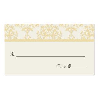 Tarjeta poner crema del lugar de la recepción tarjetas de visita