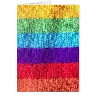Tarjeta Ponga un calcetín del colorfull en él imagen de la