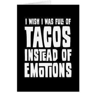 Tarjeta Por completo del Tacos