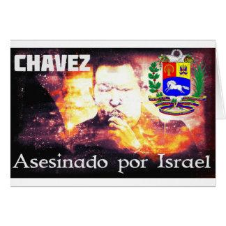 Tarjeta Por Israel de Chavez Asesinado