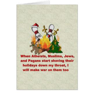 Tarjeta Porqué hay guerra en navidad