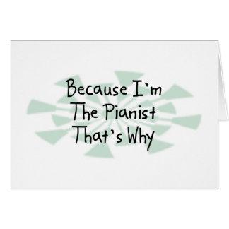 Tarjeta Porque soy el pianista