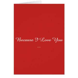 Tarjeta Porque te amo