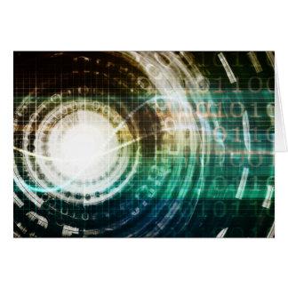 Tarjeta Portal futurista de la tecnología con Digitaces