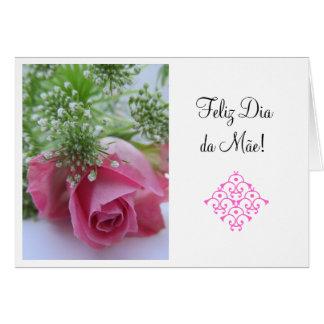 Tarjeta Portugués: El 1 día de madre del diámetro DA Mae/