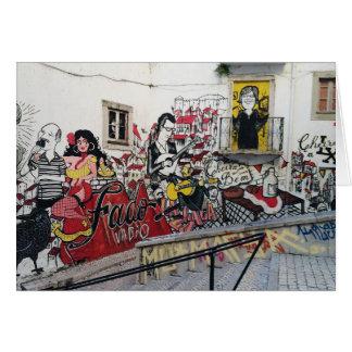 Tarjeta Portugués: Fado de Alfama- Lisboa