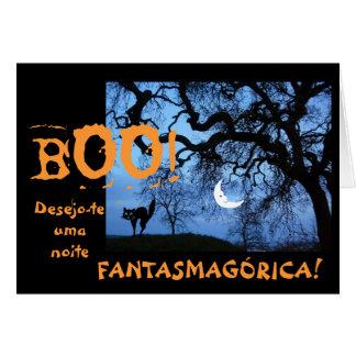 Tarjeta Portugués: Halloween/diámetro das Bruxas
