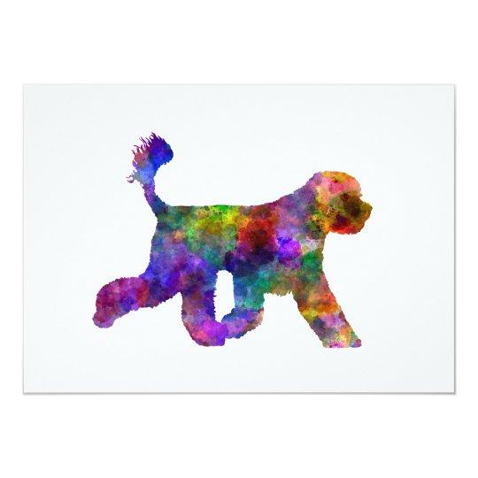 Tarjeta Portuguese Water Dog in watercolor