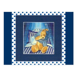 "Tarjeta postal acuarela diseño ""osito dice Buenas"