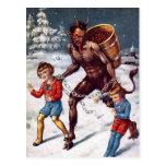 Tarjeta postal de los Navidades de Krampus