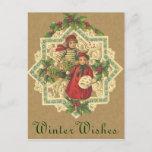Tarjeta postal de los Navidades victorianos